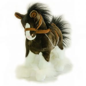 Bocchetta Rimsky Clydesdale Horse Pony Stuffed Animal Soft Plush Toy, 30 cm Height