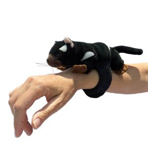Bocchetta Tasmanian Devil Snapband Slap Bracelet Stuffed Animal Soft Plush Toy, 17 cm Length x 7 cm Width x 7 cm Height