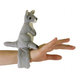Bocchetta-Grey Kangaroo Snapband Stuffed Animal Soft Plush Toy