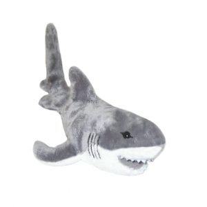 Bocchetta Pacific Great Shark Stuffed Animal Soft Plush Toy, 34 cm Height, White