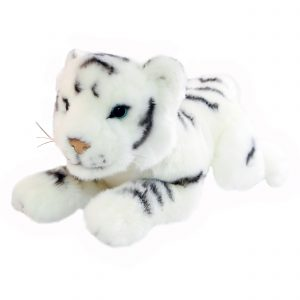 Bocchetta Sheba Tiger Cub Stuffed Animal Soft Plush Toy, 32 cm Height, White