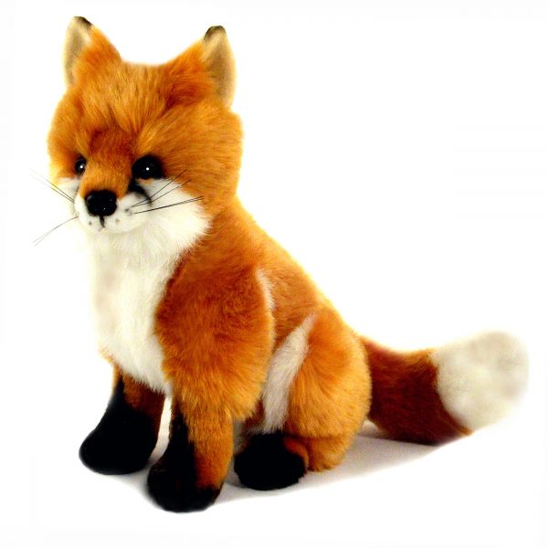Bocchetta Reynard Fox Stuffed Animal Soft Plush Toy, 26 cm Height, Red