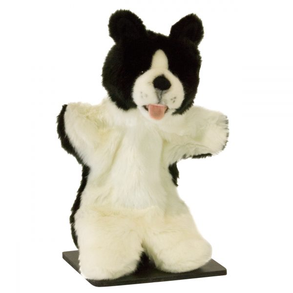 Bocchetta-Hutch Border Collie Hand Puppet Stuffed Animal Soft Plush Toy
