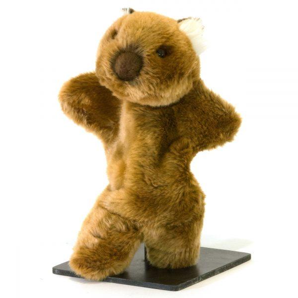 Bocchetta Womble Hand Puppet Wombat Stuffed Animal Soft Plush Toy, 28 cm Height