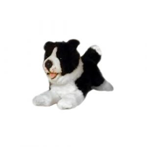 Bocchetta Patch Border Collie Stuffed Animal Soft Plush Toy, 29 cm Height