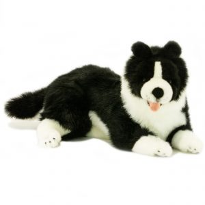 Bocchetta Starsky Border Collie Dog Stuffed Animal Soft Plush Toy, 36 cm Height
