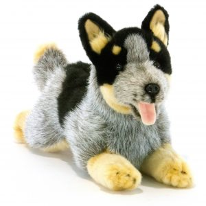 Bocchetta Rusty Cattle Dog Blue Heeler Puppy Stuffed Animal Soft Plush Toy, 30 cm Height