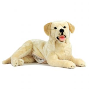 Bocchetta-Bella-Labrador with Pocket Realistic Stuffed Animal Soft Plush Toy