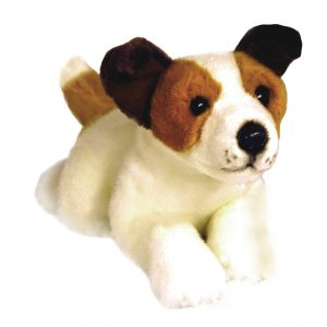 Bocchetta Sparky Jack Russell Terrier Stuffed Animal Soft Plush Toy, 28 cm Height