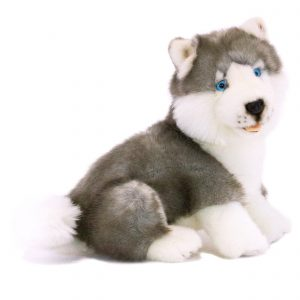 Bocchetta-Button-Husky Puppy Realisitic Stuffed Animal Soft Plush Toy