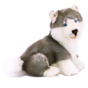 Bocchetta-Button-Husky Puppy Realisitic Stuffed Animal Soft Plush Toy