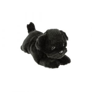 Bocchetta Puddles Pug Puppy Stuffed Animal Soft Plush Toy, 28 cm Height, Black