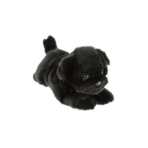 Bocchetta Puddles Pug Puppy Stuffed Animal Soft Plush Toy, 28 cm Height, Black