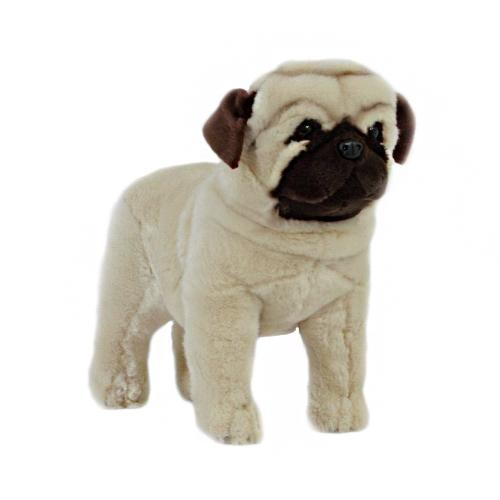 Bocchetta Pugley Pug Stuffed Animal Soft Plush Toy, 30 cm Height, Fawn