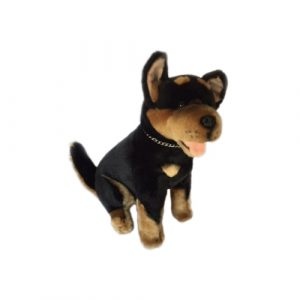 Australian Kelpie plush toy, black and tan, stuffed animal, Size 28cm/11