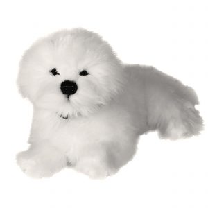 Bocchetta-Annabelle-Bichon Frise Realistic Stuffed Animal Soft Plush Toy