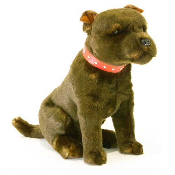 Bocchetta Scooter Staffy Staffordshire Bull Terrier Stuffed Animal Soft Plush Toy, 33 cm Height