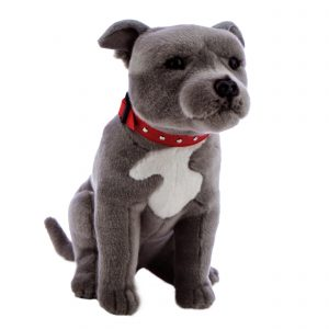 Bocchetta Storm Staffordshire Bull Terrier Stuffed Animal Soft Plush Toy, 32 cm Height
