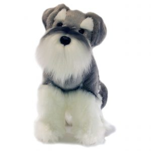 Bocchetta Watson Schnauzer Sitting Dog Stuffed Animal Soft Plush Toy, 35 cm Height
