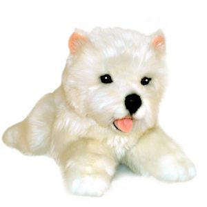 Bocchetta Pookie West Highland Terrier Puppy Stuffed Animal Soft Plush Toy, 28 cm Height, White