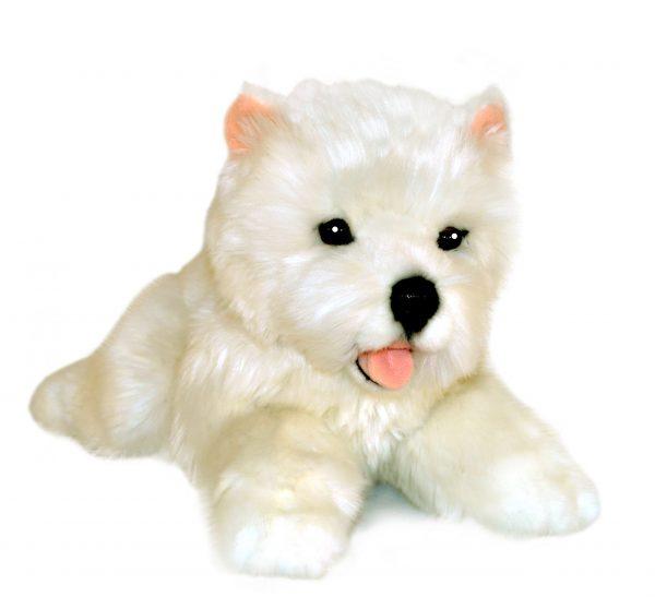 Bocchetta Pookie West Highland Terrier Puppy Stuffed Animal Soft Plush Toy, 28 cm Height, White