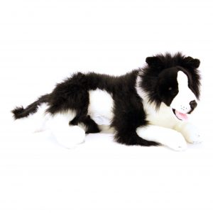 Bocchetta-Blitz Realistic Border Collie with Pocket Stuffed Animal Soft Plush Toy