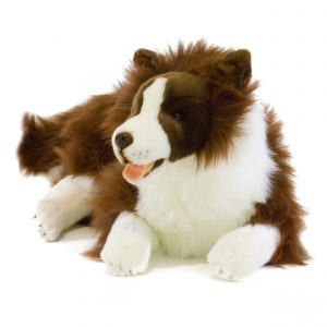 Bocchetta-Fudge Border Collie Dog Stuffed Animal Soft Plush Toy