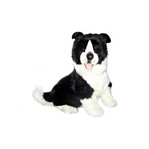 Bocchetta Pepsi Border Collie Stuffed Animal Soft Plush Toy, 23 cm Height