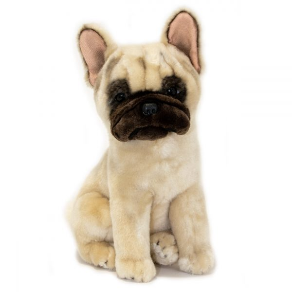 Bocchetta Paris French Bulldog Frenchie Dog Stuffed Animal Soft Plush Toy, 30 cm Height, Fawn