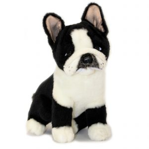 Bocchetta Pierre French Bulldog Frenchie Dog Stuffed Animal Soft Plush Toy, 30 cm Height, Black/White