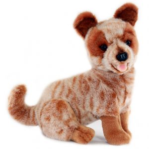 Bocchetta-Blaze-Heeler Cattle Dog Realistic Stuffed Animal Soft Plush Toy