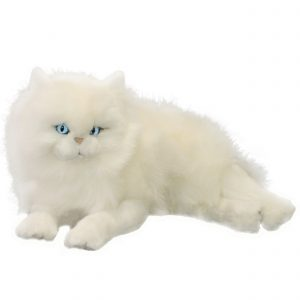 Bocchetta Snowflake Persian Cat Stuffed Animal Soft Plush Toy, lying, 38 cm Height