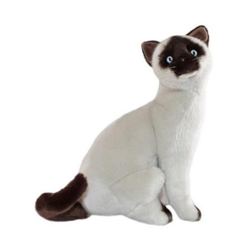 Bocchetta Tulip Sealpoint Siamese Cat Stuffed Animal Soft Plush Toy, 37 cm Height