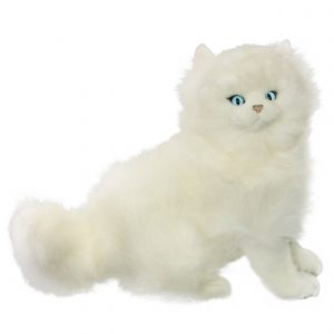 Bocchetta Pearl Persian Cat Stuffed Animal Soft Plush Toy, 27 cm Height, sitting, White