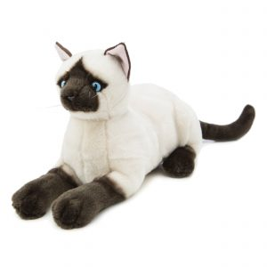 Bocchetta-Amelia-Siamese Cat Realistic Stuffed Animal Soft Plush Toy