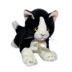 Bocchetta-Mango Piebald Kitten Stuffed Animal Soft Plush Toy