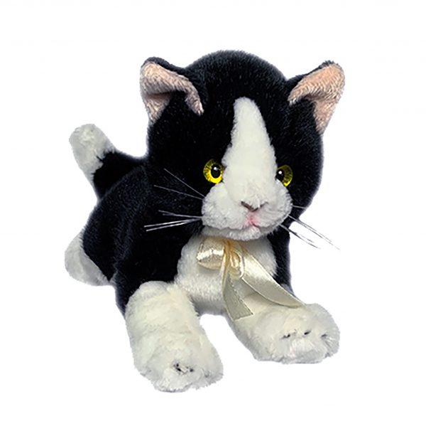 Bocchetta-Mango Piebald Kitten Stuffed Animal Soft Plush Toy