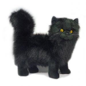 Bocchetta Sheffield Chantilly Black Cat Stuffed Animal Soft Plush Toy, 27 cm Height