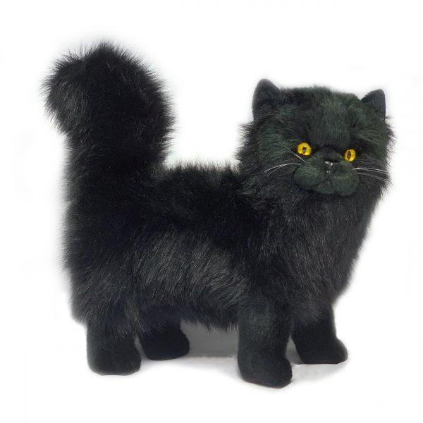 Bocchetta Sheffield Chantilly Black Cat Stuffed Animal Soft Plush Toy, 27 cm Height