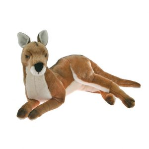 Bocchetta Tully Kangaroo Stuffed Animal Soft Plush Toy, 49 cm Height, Red