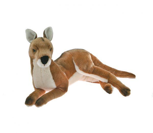 Bocchetta Tully Kangaroo Stuffed Animal Soft Plush Toy, 49 cm Height, Red