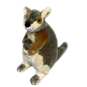 Bocchetta Wattle Rock Wallaby with Joey Stuffed Animal Soft Plush Toy, 27 cm Height