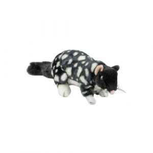 Bocchetta Polka Eastern Quoll Stuffed Animal Soft Plush Toy, 22 cm Height , Black