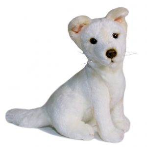 Bocchetta Sandy Dingo Stuffed Animal Soft Plush Toy, 19 cm Height, White