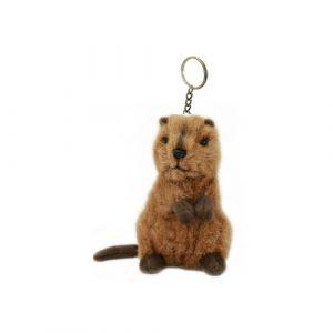 Bocchetta Quokka Keyring Stuffed Animal Soft Plush Toy, 14 cm Height x 9 cm Length