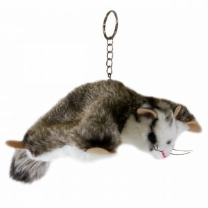 Bocchetta Squirrel Glider Keyring Stuffed Animal Soft Plush Toy, 14 cm Length x 21 cm Height