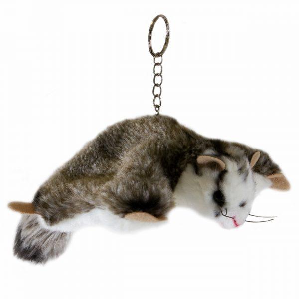Bocchetta Squirrel Glider Keyring Stuffed Animal Soft Plush Toy, 14 cm Length x 21 cm Height