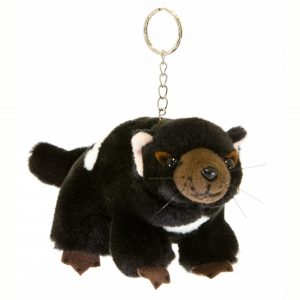 Bocchetta Tasmanian Devil Keyring Stuffed Animal Soft Plush Toy, 14 cm Height