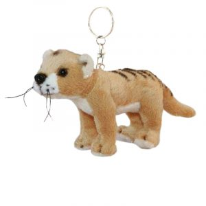 Bocchetta Tasmanian Tiger Keyring Tassie Tiger Stuffed Animal Soft Plush Toy, 14 cm Length x 8 cm Height