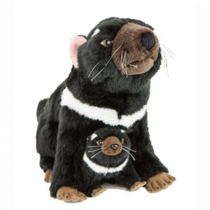 Bocchetta-Ebony & Zippy Tasmanian Devil with Joey Stuffed Animal Soft Plush Toy